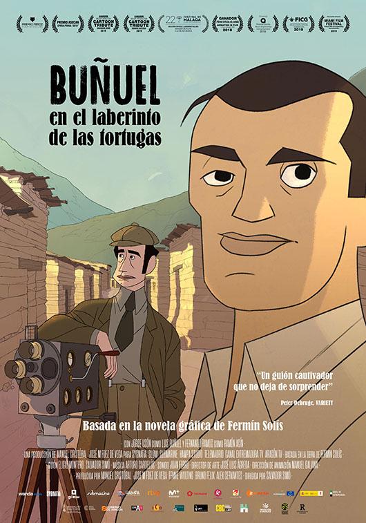Póster de Buñuel en el laberinto de las tortugas